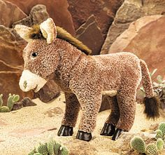 Folkmanis Donkey Puppet 2415-  If you find this anywhere, Buy it!!  I cannot find it anywhere!