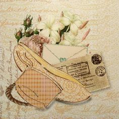 FLL100 - Creative Connections £2.80 for this beautifully romantic card.  Blank inside you can use it for any occasion.
