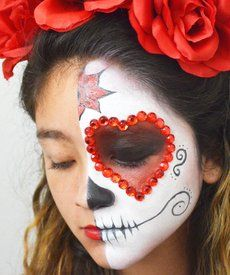 79 Best Day Of The Dead Diymakeup Images Mexican Skulls - How-to-do-day-of-the-dead-makeup