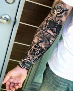 70 Pictures of Forearm Tattoos for Men Photos and T .- 70 pictures of forearm tattoos for men photos and tattoos - Lion Forearm Tattoos, Lion Head Tattoos, Forarm Tattoos, Cool Arm Tattoos, Hand Tattoos For Guys, Dope Tattoos, Best Sleeve Tattoos, Tattoo Sleeve Designs, Tatoos Men