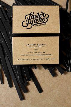 New Identity by Javi Bueno branding corporate visual identity stationary business card logo handlettering type typography minimal graphic design