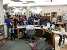 Most of these kids from Fellsmere are visiting the Library for the first time.