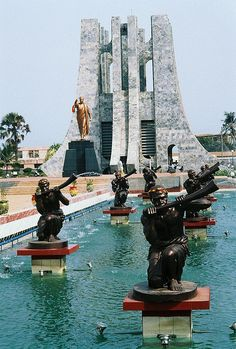 Kwame Nkrumah Memorial: Kwame Nkrumah led Ghana to independence in 1957 and was its prime minister and then president until Today, Nkrumah is revered as national hero. Accra, Ghana by Ghana Travel, Africa Travel, The Places Youll Go, Places To See, Art Africain, Accra, Thinking Day, African Countries, West Africa
