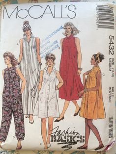 Misses dresses and jumpsuits McCalls sewing pattern by Followlight on Etsy