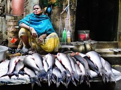 Fishwife And Her Lot by Toni Peach. India, Image is 15 inches cm) wide without a border. Photography Art Prints by Female Photographers. Photography Gallery, Street Photography, Art Photography, Female Photographers, Online Gallery, Photographic Prints, Prints For Sale, Photographs, Peach