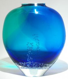 Art Glass Ocean Bubble Vase from Kela's...a glass gallery on Kauaii
