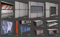 Sci fi modular assets