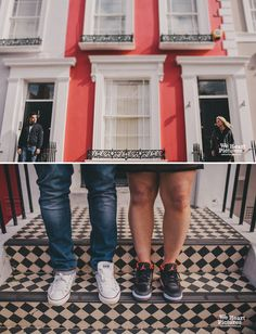 London Portobello Road | Notting Hill Engagement Shoot Alternative Wedding Photography | weheartpictures.com