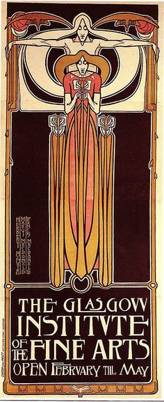 Love the border and the font - A Classic Art Nouveau Poster