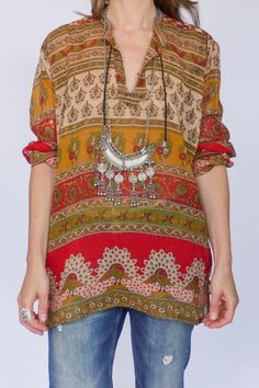 Indiase hippie tuniek available at www.secondhandnew.nl