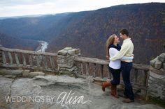 Cooper's Rock Cheat Lake Engagement session photos, West Virginia Wedding Photographers