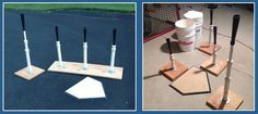 A reader recently sent me an idea for homemade batting tees that he uses quite successfully at the high school level. With his permission I am posting his comments along with the photos he sent me. Aces Baseball, Baseball Batting Tee, Iowa Hawkeye Baseball, Royals Baseball, Baseball Uniforms, Sports Baseball, Baseball Stuff, Baylor Basketball, Baseball Tickets