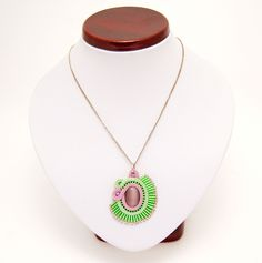 naszyjnik wisior sutasz soutache pendant necklace 28a