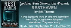 Archaeolibrarian - I dig good books!: BLURB BLITZ & #GIVEAWAY - Resthaven by Erik Therme...