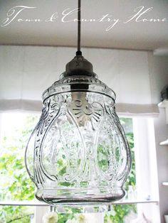 vintage glass pendant