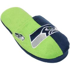 Seattle Seahawks slippers for men come in 4 sizes, are slide style with embroidered team logo in traditional colors. Nfl Seattle, Seattle Seahawks, Nhl Jerseys, Mlb, Best Gifts, Slippers, Color, Women, Products