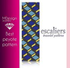 Escaliers Peyote Pattern  MDesign by MDesignJewellery on Etsy, zł11.70