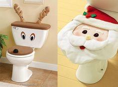 adornos para baños navideños - Buscar con Google