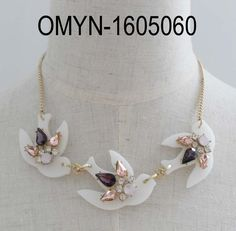 fashion statement necklace, dove neckalce