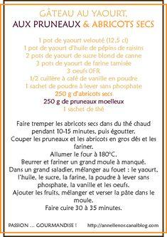 Gâteau aux yaourt, pruneaux & abricots secs_fiche