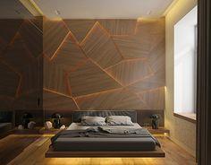 Minimalist Bedroom Design for Modern Home Decor - Di Home Design Bedroom Wall Texture, Men Apartment, Apartment Ideas For Men, Apartment Living, Apartment Projects, Bedroom Apartment, Geometric Decor, Geometric Patterns, Suites