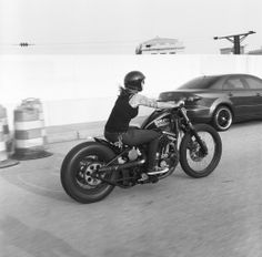 Sportster bobbers, lady riders, open-face helmets, drag bars, sissy bar, vintage, photograph © by Lanakila MacNaughton