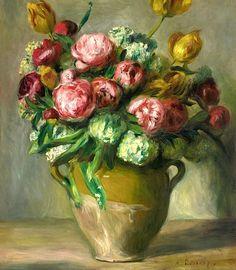 PIERRE-AUGUSTE RENOIR / Vase De Pivoines