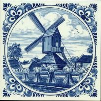 Delft Blue Tiles- we grew up with these in our home everywhere
