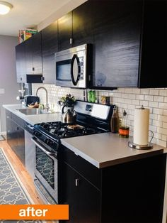 Before & After: A Narrow Galley Kitchen Gets an Urban Update