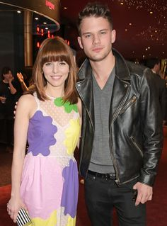 Ophelia Lovibond and Jeremy Irvine cuddled up at the Into Film Awards in London on Tuesday.
