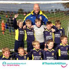 """@easyuk #ThanksAMillion competition from Barlborough Jnrs FC U8's."" #Fundraising #Giving #Charity"