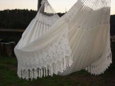 OM MY ! A giant hammock/built in blanket. Two of the best things ever. Elements Of Nature, White P, My Dream Home, Hammock, Sweet Home, Blanket, Elegant, Outdoor Decor, Macrame