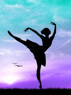 ART PRINT POSTER PHOTO MOCK UP SILHOUETTE SUNSET BALLET DANCER LFMP0731 | eBay