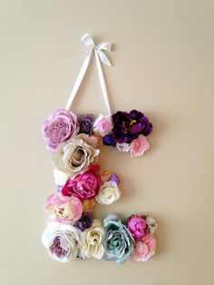 Custom Flower Letters  / Floral Letters / by PaulettaStore on Etsy