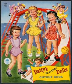 "UNCUT ""Patty's Playtime Dolls"" #3464 Merrill 1956 (4779)"