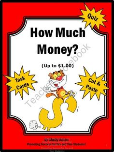 Math Money Task Cards Up to $1 Task Cards and More! from Promoting Success on TeachersNotebook.com (42 pages)  - This 42 page math packet is full of fun math activities, including: Task Card Ideas 26 Task Cards Student Response Form + Key 26 Answer Game Cards Matching Game Response Form + Key 2 Cut and Paste Activities Draw or Show with Money Manipulatives Quiz + Ke