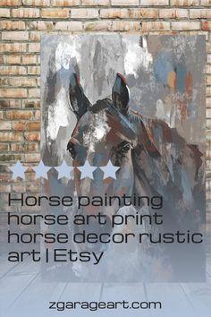 Horse painting, Rustic Horse painting, Horse in a Barn Rustic decor, Girls room art, gift for horseback riding, horses art print, large art Rustic Art, Rustic Decor, Riding Horses, Equestrian Decor, Garage Art, Canvas Prints, Art Prints, Room Art, Horse Art