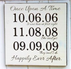 "cute wedding  reminder/decoration at wedding ""Once a upon a time """