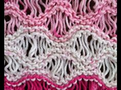 This video shows Rows 3 and 4 of this pattern, in which YO's are made and then dropped from the needle.  For the written pattern in its entirety, please visit:  http://theweeklystitch.blogspot.com/2011/08/sea-foam-stitch.html