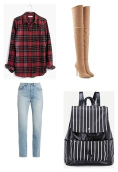 """Untitled #557"" by jamiesowers14 on Polyvore featuring Madewell, Yves Saint Laurent and Balmain"