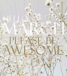 Hello March Please Be Awesome