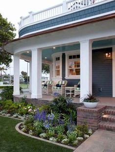 7 Front Yard With Porch Landscaping Ideas Front Porch Landscape, Front Porch Garden, Front Porch Plants, Small Front Yard Landscaping, Small Front Porches, Front Porch Design, Farmhouse Landscaping, Landscaping Ideas, Pergola Ideas