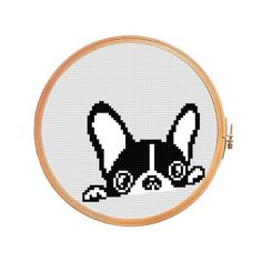 French bulldog looks cross stitch pattern por PatternsCrossStitch