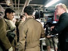 """thedailystyles: """"Harry, Fionn Whitehead, and Christopher Nolan on the set of 'Dunkirk' """""""