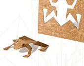 postcard wood - one frogcard