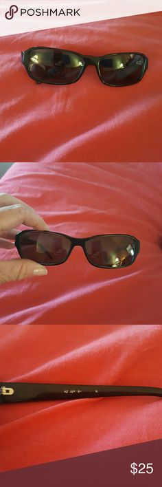 Black Sunglasses These have a very mild Rx lens but not sure of the exact strength...definitely made for distance though.  Excellent condition.  Not sure I ever used them. Aztec Accessories Glasses