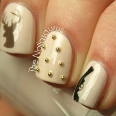 Hunting nails!! haha. Studs, Guns, Deer. Woot.