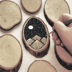 woodcut, stars, dark