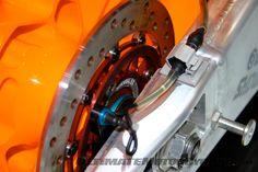 Rear brake rotor and speed sensor