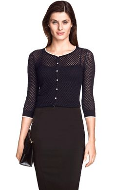 Black button up sweater